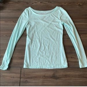 AE Scoop-neck favorite tee baby blue